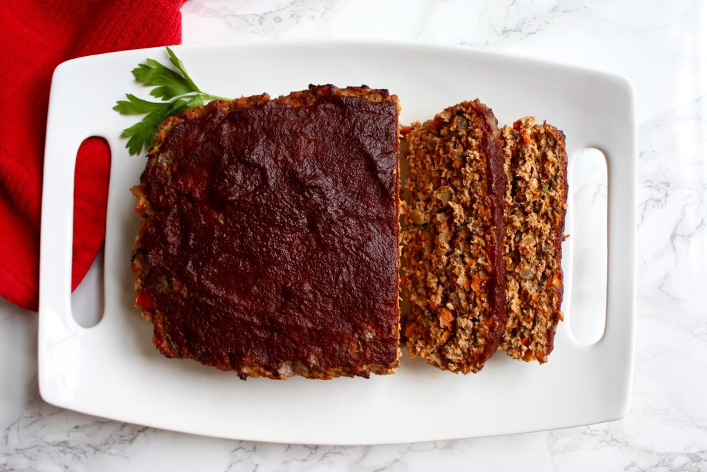 Healthy Balsamic Apple Glazed Turkey Meatloaf 6 - runcooklaugh.com