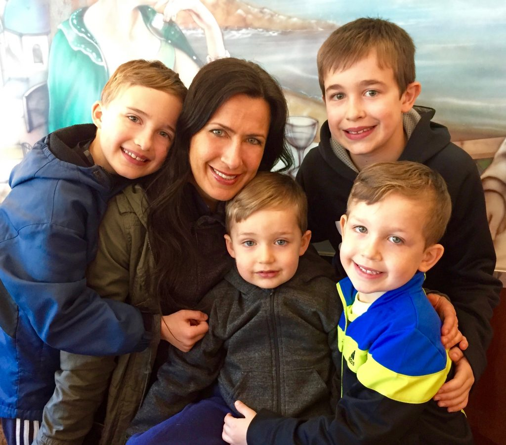 Gabrielle Panepinto Reiser and her boys