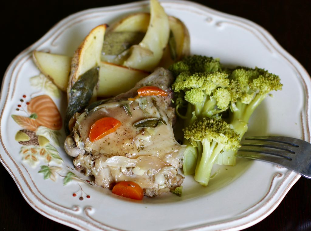 Baked Maple and Sage Chicken with Potato Wedges - There is No Place Like Home! - runcooklaugh.com