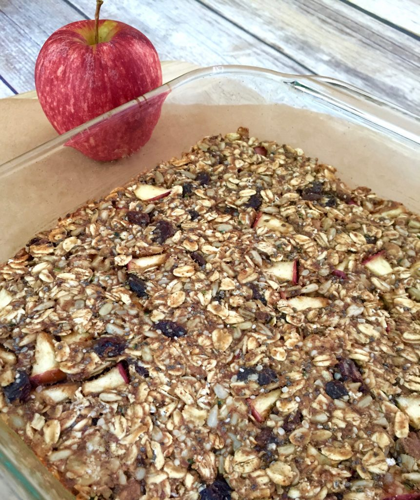Healthy Cinnamon Apple Granola Bar 2- runcooklaugh.com