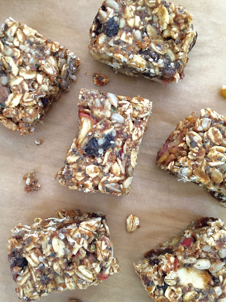 Healthy Cinnamon Apple Granola Bar 3- runcooklaugh.com
