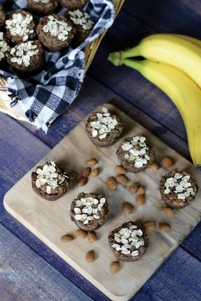 Breakfast Banana Mini Muffins made with Almond Pulp 10 - runcooklaugh.com