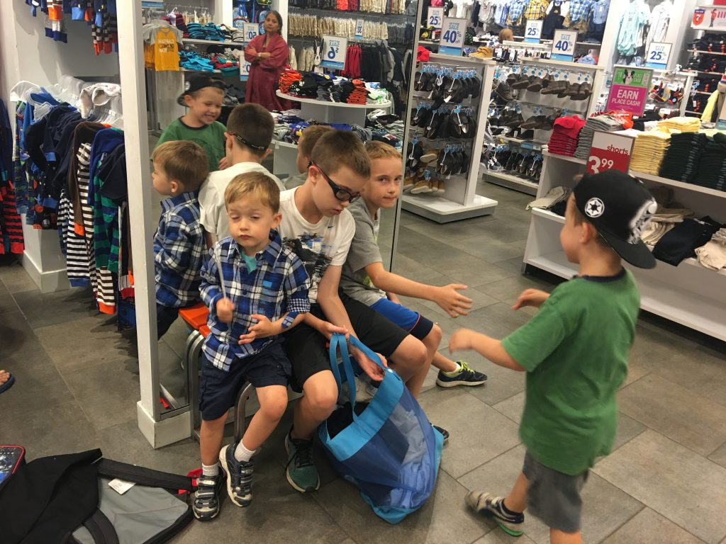 Shopping with the Kids - July - runcooklaugh.com