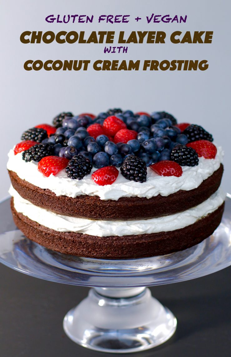 Delicious Chocolate Layer Cake with Coconut Frosting {Gluten-Free ...
