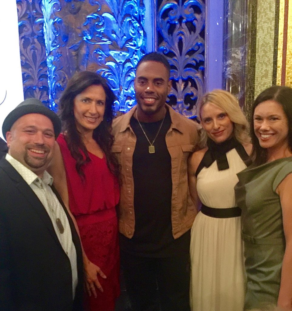 Chris Vaglio, Me, Rashad Jennings, Stacey Van Gorder, Mia Caress