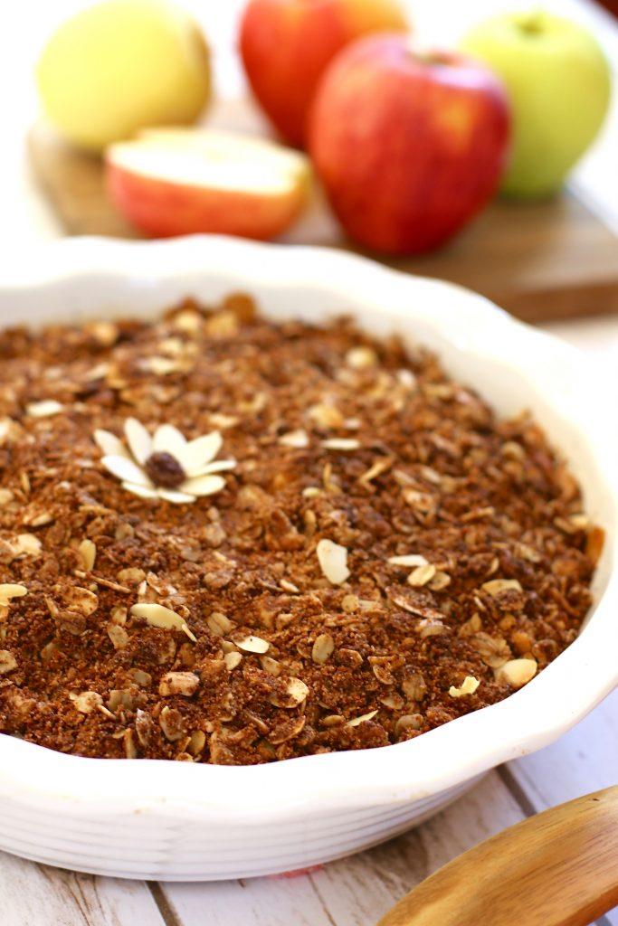 Simple Gluten-Free & Vegan Apple Crisp - runcooklaugh.com