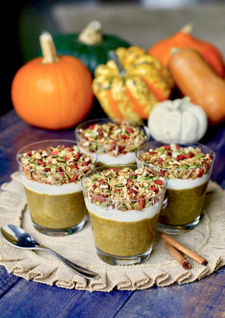 Simple Pumpkin Pie Chia Breakfast Parfait (Gluten Free, Vegan) - Happy Halloween - runcooklaugh.com