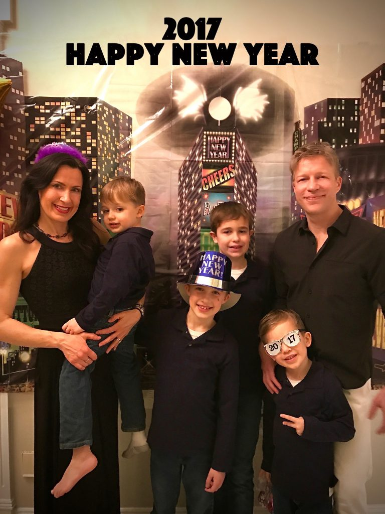 The Reiser Family at a party at Stacey Vangorders house for New Years Eve 2016.
